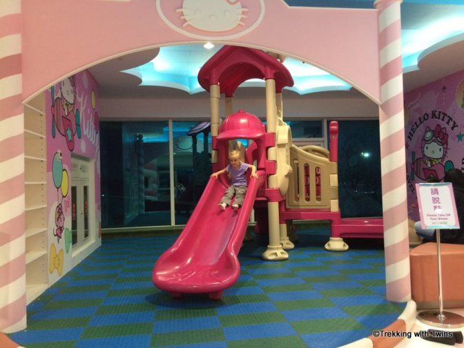 Playground at the Hello Kitty store in Taipei.