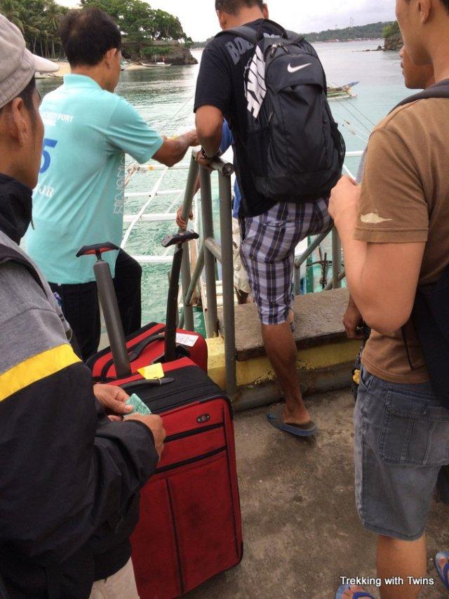 Boracay to Kalibo Airport   Loading the Boat