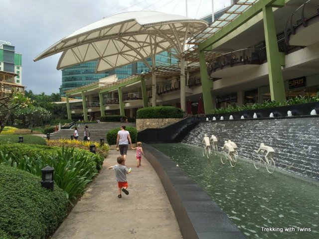 Cebu Ayala Mall Terraces | Trekking with Twins