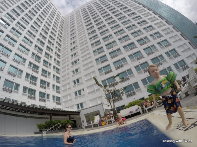 Cebu Hotel Pool | Trekking with Twins