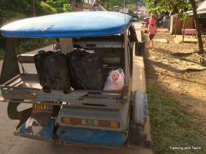 Pig in a bag, Palawan, Philippines | Trekking with Twins