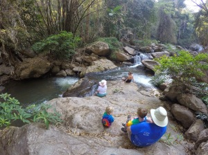 Mae Sa Waterfall on our day trip from Chiang Mai